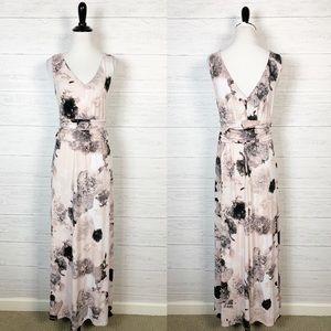Calvin Klein • Blush Pink Floral Maxi Dress 6